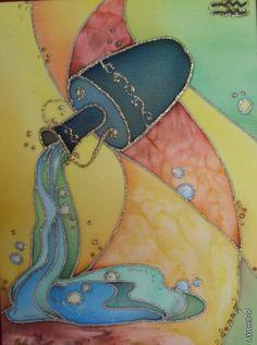 AstroSpirit / Aquarius ♒ / Air / Le Verseau  / Водолей. Знаки зодиака (холодный батик)