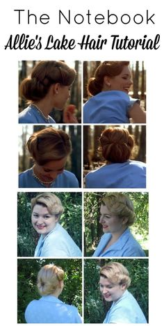 The notebook movie Allie's lake hair style tutorial from Va-Voom Vintage hair styles The Notebook Fashion and Style Week: Allie's Lake Hair Tutorial Hair Rat, 50 Hair, Pin Up Hair, Vintage Hairstyles Tutorial, 1940s Hairstyles, Short Hairstyles, Stylish Hairstyles, Wedding Hairstyles Tutorial, Party Hairstyles