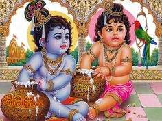 Lord Krishna is one of the most lovable and cute God along with Lord Ram, Ganesh, Hanuman and Murugan. Bal Krishna done Baby Krishna, Cute Krishna, Radha Krishna Photo, Krishna Art, Krishna Lila, Krishna Statue, Lord Krishna Images, Krishna Pictures, Krishna Photos