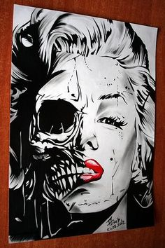Marilyn Monroe skull 3