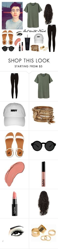 """""""12:52 am  // Out and about with Nash Grier"""" by nxtiveortiz ❤ liked on Polyvore featuring New Look, ALDO, 2b bebe, NYX and Pieces"""