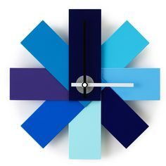 WATCH ME WALL CLOCK BLUE: Amazon.co.uk: Kitchen & Home