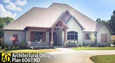 Architectural Designs 3 bedroom house plan 60611ND - just over 2,300 sq. ft. More pictures online.