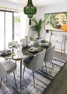 Dining Room Design, Dining Room Chairs, Dining Rooms, West Elm Dining Table, Kitchen Chairs, Kitchen Decor, Interior Design Living Room, Living Room Decor, Modernism Week