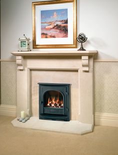 The Stockton Inset gas fire from Gazco combines the looks of a traditional cast stove with the latest high efficiency heating.
