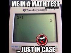 Me in a math test