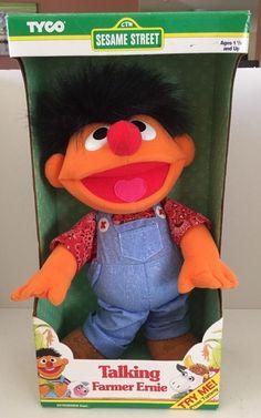 Talking Farmer Ernie Sesame Street NEW in Original Box from Tyco 1996 #Tyco