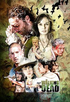 The Walking Dead on Illustration Served
