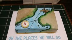 Amy's Crazy Cakes - Map And Compass Baby Shower Cake