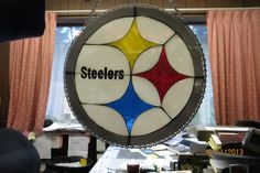 Pittsburg Steelers mosaic stained glass hanging by AliShopeArt