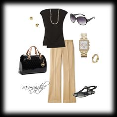 Summer Work Outfit, created by sammyzstyle on Polyvore