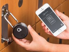 This Bluetooth lock, discovered by The Grommet, uses Bluetooth technology, so you can easily open a lock from your phone, keycard, or keyfob.
