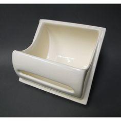 """Porcelain Toilet Paper Holder  Vintage porcelain toilet paper """"Aetco. Fixtures""""  6-1/2 by 6-1/2"""""""