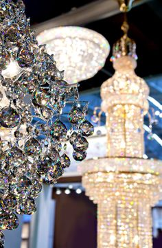 Glittering chandeliers! #luxury #chandeliers #homedecor