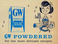 GW Powdered Sugar, 1960 - #style #mid century # illustration