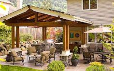 Love all of these patio ideas... they are all so different!