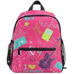 e0585b91ad Music Guitar Doodles Pink Mini Kids Backpack Pre-School Kindergarten  Toddler Bag