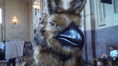 Seeing this amazing puppet is probably the closest a person can get to meeting a mythical griffin in real life.
