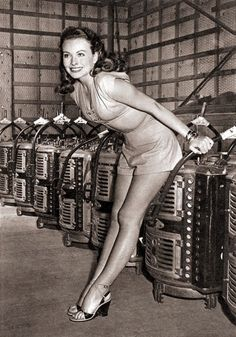 Jeanne Crain  I thought she was one of the prettiest actresses in Hollywood.  This pic. doesn't do her justice by any means.
