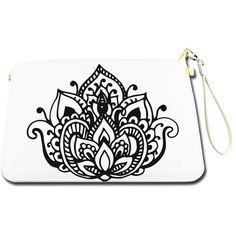 Lotus Mandala Women Handbag Artificial Leather ($50) ❤ liked on Polyvore featuring bags, handbags, shoulder bags, purse shoulder bag, white leather purse, leather purse, leather shoulder handbags and leather hand bags