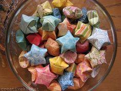 origami stars by Regina (creative kismet), via Flickr she-s-crafty