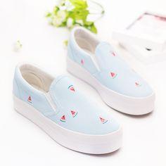 timeless design b3f4b dbca9 Cheap Frutas lindas de Impresión Pisos Girls Verano 2016 Mujeres  Respirables… Zapatos 2017, Mocasines
