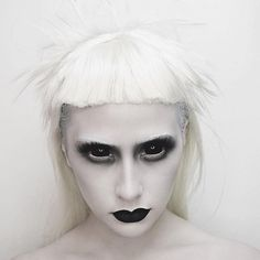 Extreme Halloween Beauty by @ahitsrosa using Mehron's Clown White!!  REPOST  @ahitsrosa ・・・ Y'all guessed it! My Yolandi Vi$$er tutorial will be up today! Sadly I don't have the amazing bone structure as @prawn_star but hopefully I did her justiceUsed: @mehronmakeup clown white