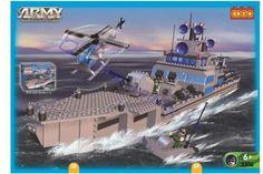 COGO 3306 Army Kruiser (bouwstenen) met helicopter en speedboot kun je op elke klus af een ware verdediging van he land. Lego niet betaalbaar? koop dan Cogo bouwstenen en maak mooie creaties, cogo maakt bouwstenen en speelgoed weer betaalbaar. http://www.worldoftoys.nl/speelgoed/jongens/cogo-3306-army-kruiser-jongens-speelgoed