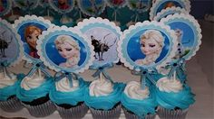 Frozen Party : Cupcake Picks in the characters