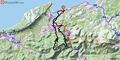 [Pyrénées-Atlantiques] Hendaye : Vers les Trois Couronnes Il s'agit d'une boucle au départ d'Hendaye avec une approche facile le long de la Bidassoa. La montée vers les Trois Couronnes se fait par la route au début, puis des pistes forestières. Du côté des Trois Couronnes, quelques sentiers étroits mais de niveau et sans difficulté technique se présentent. La descente se fait par pistes, juste un portage à la descente à proximité d'un torrent.