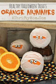 They'll never see the citrus fruit hiding behind that clever wrapping. We love these  mummy oranges , which you can make with this easy DIY tutorial from A Thrifty Mom.