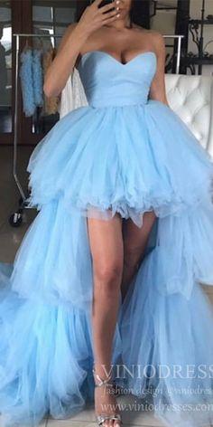 Strapless Prom Dresses, High Low Prom Dresses, Tulle Prom Dress, Prom Dresses Blue, Formal Evening Dresses, Dresses For Teens, Homecoming Dresses, Elegant Dresses, Party Dresses