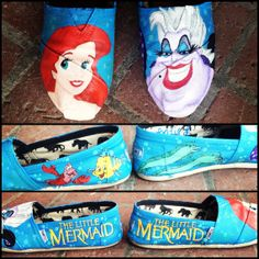 Custom Hand Painted Shoes Toms by ShoesByKoo on Etsy, $110.00  Website: www.etsy.com