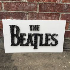 "$44, 12x17"", MADE TO ORDER  Beatles String Art Sign by StringsbySamantha"