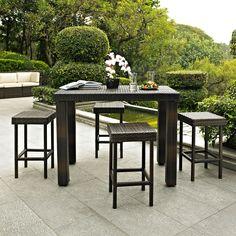 Alluring 5 piece high dining patio set