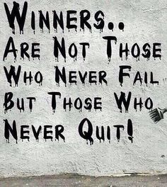 Are Not Those Who Never Fail But Those Who Never Quit! - Banksy (n. Street Art Banksy, Banksy Graffiti, Bansky, Street Art Quotes, Street Art Utopia, The Words, Positive Quotes, Motivational Quotes, Inspirational Quotes