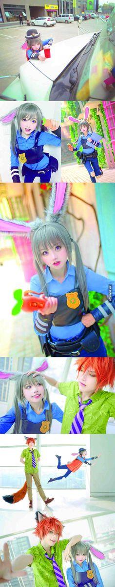 Zootopia's Judy hopps cosplay by 小柔SeeU