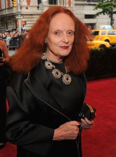 Grace Coddington in Prada.....Met Gala 2012