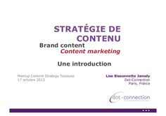 Stratégie de contenu, Brand content, content marketing :  Une introduction #contenu #content #contenMarketing