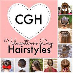 Valentine's Day Hairstyle: Flip-Braided Heart | Cute Girls Hairstyles