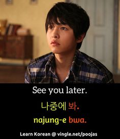 Learn Korean: See you later.