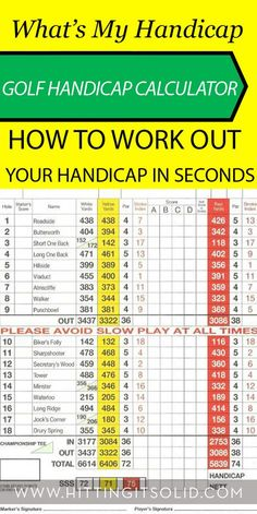 Lear how to work out your golf handicap on any golf course in the world in just seconds.
