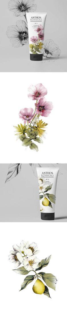 ANTHROS BOTANICALS HAND CREAM Packaging Design