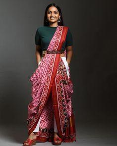 12 Innovative and Stylish Saree Draping Styles By Dolly Jain - Saree Styles Dhoti Saree, Lehenga, Indowestern Saree, Anarkali, Indian Fashion Dresses, Dress Indian Style, Indian Designer Outfits, Saree Fashion, Fashion Outfits