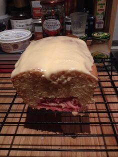 Rhubarb Cake with Custard Frosting (1 March 2015)