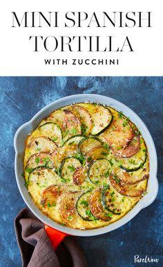 Mini Spanish Tortilla with Zucchini via @PureWow