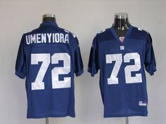 Giants #72 Osi Umenyiora Embroidered Blue NFL Jersey! Only $21.50USD