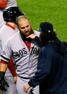 It's the Red Sox beard pull