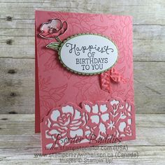 Birthday Blooms Stamp Set & Detailed Floral Thinlits