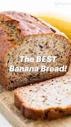 Banana Bread Recipie, Easy Banana Bread, Banana Recipes, No Sugar Banana Bread, Banana Bread Cake, Homemade Banana Bread, Easy Bread Recipes, Cookie Recipes, Dessert Recipes
